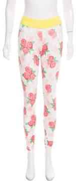 adidas by Stella McCartney Floral Print Athletic Pants