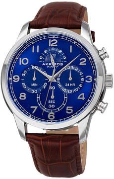 Akribos XXIV Mens Brown Bracelet Watch-A-1004ssbr