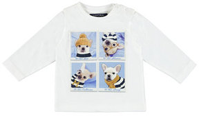 Mayoral Long-Sleeve My First Puppy Graphic T-Shirt, Size 6-36 Months