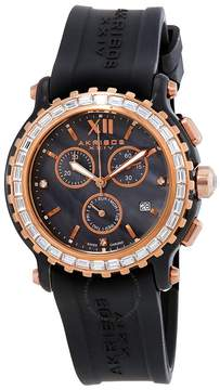 Akribos XXIV Akribos Chronograph Black Ceramic Ladies Watch