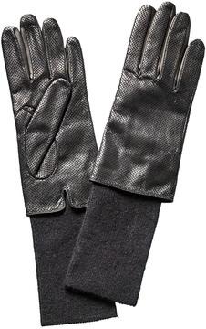 Portolano Black Perforated Leather Gloves