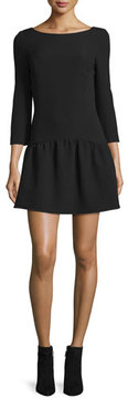BA&SH Taxi Strappy-Back Fit & Flare Dress