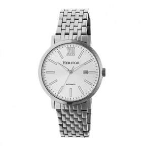 Heritor Bristol Mens Silver Tone Bracelet Watch-Herhr5301