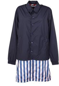 Facetasm Striped Layered Jacket