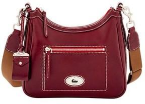 Dooney & Bourke Florentine Toscana Crossbody Hobo Shoulder Bag. - BORDEAUX - STYLE
