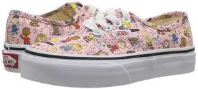 Vans Kids Authentic x Peanuts Dance Party/Pink) Kids Shoes
