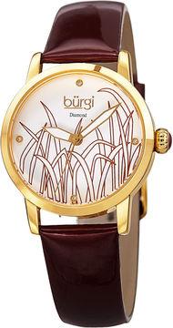 Burgi Unisex Red Strap Watch-B-173b-