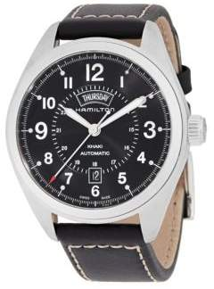 Hamilton Khaki Field Stainlee Steel Leather-Strap Watch