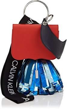 Calvin Klein Women's Charm-Detailed Leather Shoulder Bag