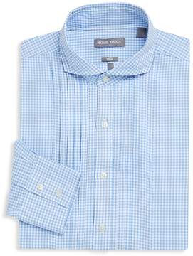 Michael Bastian Men's Checkered Cotton Trim Fit Dress Shirt