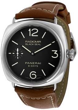 Panerai Radiomir Black Dial Brown Leather Men's Watch