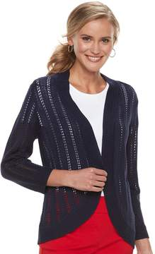 Dana Buchman Women's Open-Stitch Cardigan