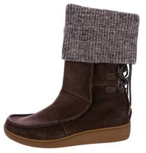 The North Face Round-Toe Suede Mid-Calf Boots