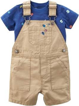 Carter's Baby Boy Bug Tee & Ripstop Overalls Set