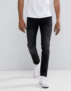 Loyalty And Faith Slim Fit Jeans in Washed Black