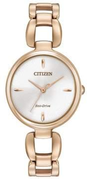 Citizen L EM0423-56A Rose Gold Analog Eco-Drive Women's Watch