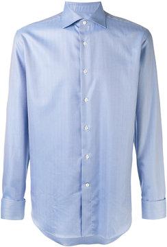 Canali herringbone shirt
