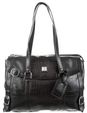 Diane von Furstenberg Embossed Leather Tote