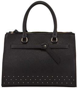 Neiman Marcus Knotted Top-Handle Satchel Bag