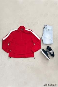 21men 21 MEN Contrast Stripe Anorak Jacket