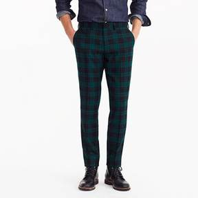 J.Crew Ludlow Slim-fit pant in wool tartan