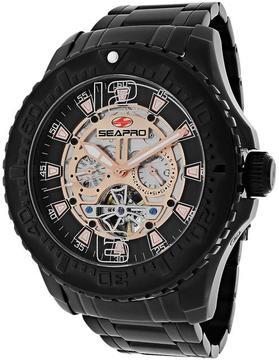 Seapro SP3313 Men's Tidal PX1 Black Stainless Steel Watch