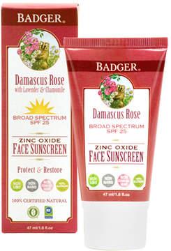 SPF 25 Face Sunscreen- Damascus Rose by Badger (1.6oz Sunscreen)