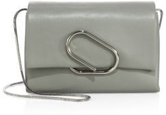 3.1 Phillip Lim Alix Soft Flap Leather Chain Clutch