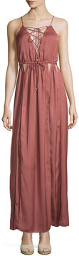 Dolce Vita Kendall Cutout Satin Maxi Dress, Brick