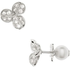 Mikimoto Women's Pearl & Diamond Front/back Earrings