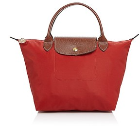 Longchamp Le Pliage Mini Tote - BURNT RED/GOLD - STYLE