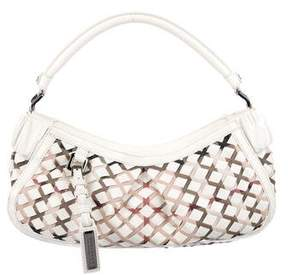 Burberry Patent Leather Woven Hobo