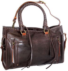 Women's Nino Bossi Alanis Leather Satchel