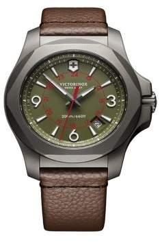 Victorinox I.N.O.X. Titanium Leather-Strap Watch