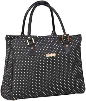 Isaac Mizrahi Black & White Pin Dot Soho Deluxe Tote