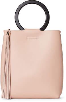 Street Level Blush Tasseled Ring Handle Bag