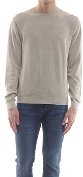 Sun 68 Men's K18107beige Beige Cotton Sweater.