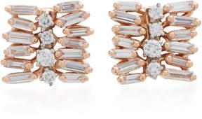 Suzanne Kalan Small Post 18K Rose Gold Diamond Earrings