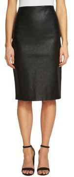 CeCe Women's Faux Leather Pencil Skirt