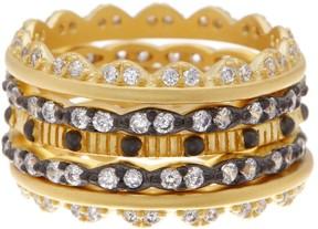 Freida Rothman Anniversary Bezel CZ Stack Ring