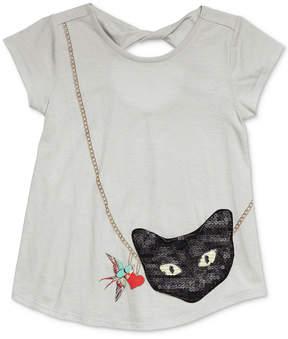 Jessica Simpson Katelyn Cat Purse-Pocket T-Shirt, Big Girls (7-16)