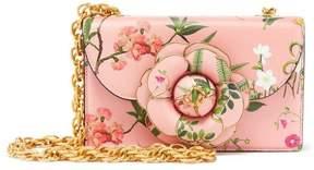 Oscar de la Renta Botanical Flower Leather TRO Bag