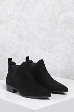 Forever 21 Faux Suede Chelsea Boots