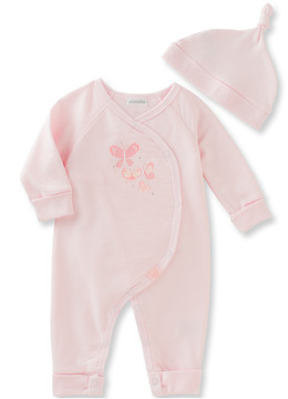 Absorba Girls' 2Pc Coverall And Hat Set