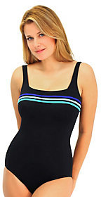 Fit 4 U C's Color Block Square Neck 3-Tape TankSwimsuit