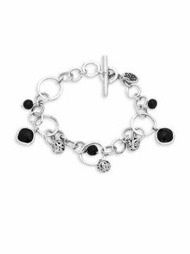 Lois Hill Black Onyx & Sterling Silver Bracelet