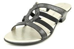 Karen Scott Emet Women Open Toe Synthetic Black Slides Sandal.