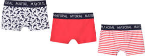 Mayoral Pack of 3 Printed, Stripe and Plain Boxers