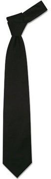 Forzieri Solid Black Extra-Long Tie