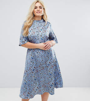 Alice & You MIDi Dress With High Neck In Vintage Floral